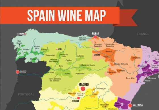 Map of Spain's Wine Regions from WineFolly