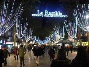 La Rambla at Christmas